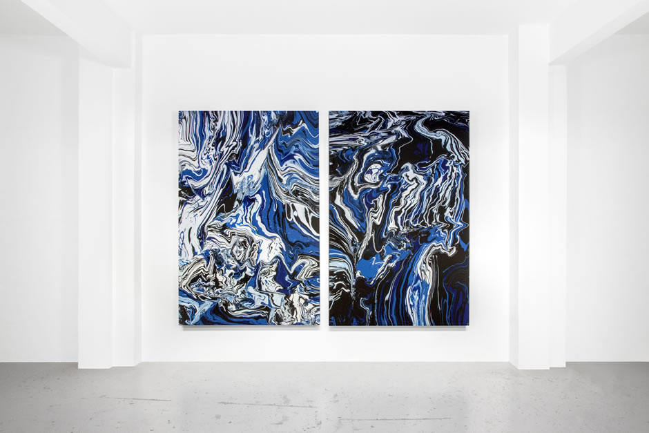 Fridriks_Blue_Space_Moleculesyndrome_diptych 300x230cm_2015